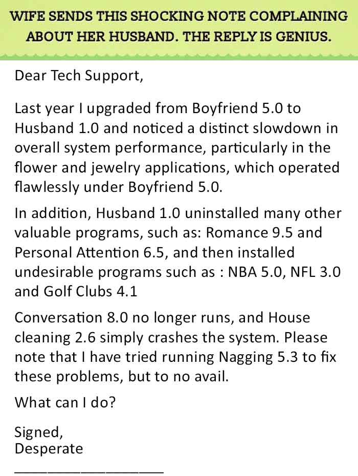 Dear Tech Support
