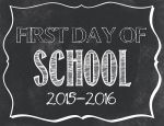This is a printable that you can have your child hold on the first day.