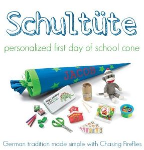 This idea is adapted from a German first day of school tradition.